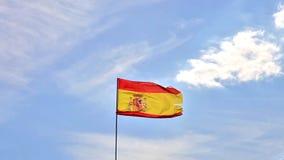Flag of Spain waving stock footage