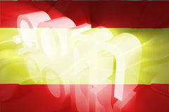 Flag of Spain wavy www internet Stock Photography