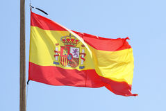 Flag of Spain. On the wind Royalty Free Stock Image