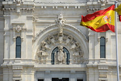 Flag of Spain in the wind Royalty Free Stock Photography