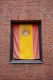 Flag of spain in window Royalty Free Stock Photos