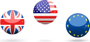 Flag spheres Stock Image
