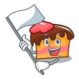 With flag sponge cake mascot cartoon. Vector illustration Royalty Free Stock Photography