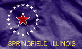 Flag of Springfield, Illinois. Royalty Free Stock Photography
