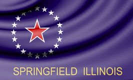 Flag of Springfield, Illinois. USA. Royalty Free Stock Images