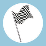 Flag square black and white race. Vector illustration eps 10 Royalty Free Stock Photo