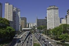 Flag square - São Paulo - Brazil Royalty Free Stock Photo