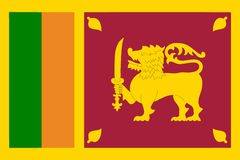 Flag of Sri Lanka Stock Photos