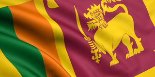 Flag Of Sri Lanka Royalty Free Stock Photography