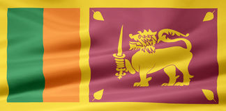 Flag of Sri Lanka Stock Photo