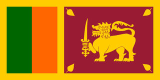 Flag of Sri Lanka royalty free illustration