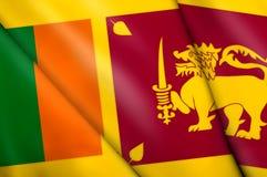 Flag of Sri Lanka. This is an illustration of folded flag Stock Photography