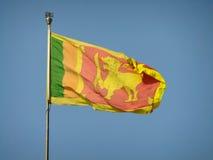 Flag of Sri Lanka against blue sky Royalty Free Stock Photos