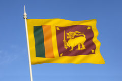 Flag of Sri Lanka Royalty Free Stock Images