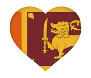 Flag of  Sri Lanka Heart. Stock Photography