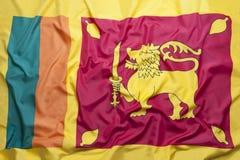 Flag of Sri Lanka. National flag of Sri Lanka for a background royalty free stock image