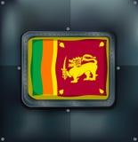 Flag of Srilanka on metalic background Royalty Free Stock Photography