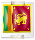 Flag of SriLanka on paper Stock Images