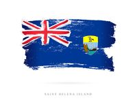 Flag of St. Helena. Abstract concept Stock Images