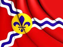 Flag of St. Louis Missouri, USA. 3D Flag of St. Louis Missouri, USA Royalty Free Stock Photography