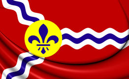 Flag of St. Louis Missouri, USA. Royalty Free Stock Photos