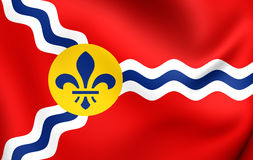 Flag of St. Louis, USA. Close Up Royalty Free Stock Photo
