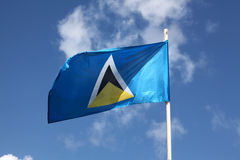 Flag of St. Lucia Royalty Free Stock Photo