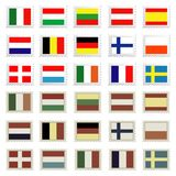 Flag stamps set. Easily editable vector illustration Royalty Free Stock Image