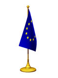 Flag stand. With flag of the european union on a standard bearer Royalty Free Stock Photography