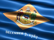 Flag of the state of Delaware. Computer generated illustration of the flag of the state of Delaware with silky appearance and waves royalty free illustration