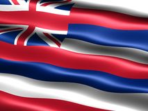 Flag of the state of Hawaii. Computer generated illustration of the flag of the state of Hawaii with silky appearance and waves vector illustration