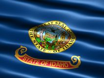 Flag of the state of Idaho. Computer generated illustration of the flag of the state of Idaho with silky appearance and waves vector illustration