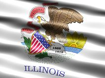 Flag of the state of Illinois. Computer generated illustration of the flag of the state of Illinois with silky appearance and waves Royalty Free Stock Photography