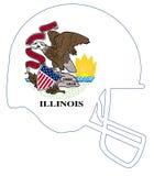 Illinois State Flag Football Helmet Royalty Free Stock Photo