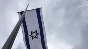 Flag of the state of Israel stock video footage