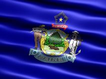 Flag of the state of Maine Royalty Free Stock Image