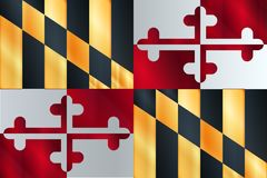 Flag of The State Of Maryland Stock Image