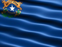Flag of the state of Nevada. Computer generated illustration of the flag of the state of Nevada with silky appearance and waves Stock Photos