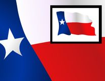 Flag of the State of Texas Stock Photos