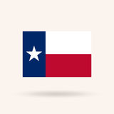 Flag of the state of Texas. USA. Accurate dimensions, proportions and colors. Vector Illustration Stock Photography