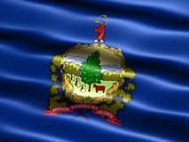 Flag of the state of Vermont. Computer generated illustration of the flag of the state of Vermont with silky appearance and waves royalty free illustration