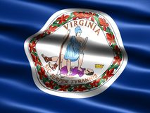 Flag of the state of Virginia Stock Image