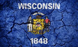Flag of the state of Wisconsin stock illustration