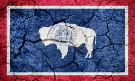 Flag of the state of Wyoming royalty free illustration