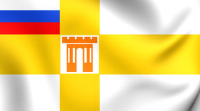 Flag of Stavropol, Russia. Close Up Stock Photo