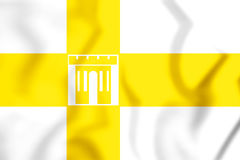 Flag of Stavropol, Russia. 3D Illustration. Royalty Free Stock Photography