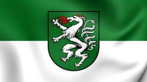 Flag of Steyr, Austria. Stock Photos