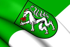 Flag of Steyr, Austria. Royalty Free Stock Images