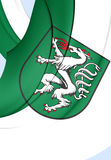 Flag of Steyr City, Austria. Stock Image