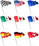 flag stift stock illustrationer